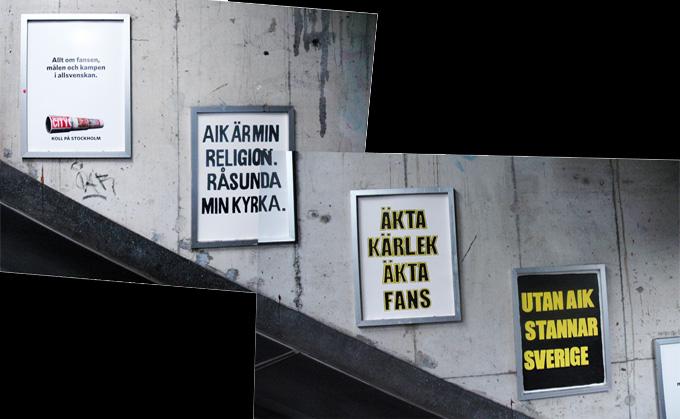 Stockholm City – Supportrarnas egna affischer