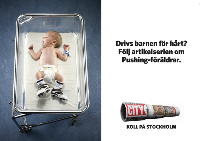 Tidningen Stockholm City – Drivs barnen för hårt? Följ artikelserien om Pushing-föräldrar.