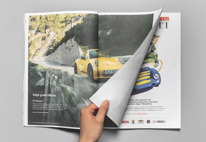Porsche – Varje gram räknas. Sveriges lättaste annons.